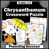 Chrysanthemum Activities for the First Day of School Crossword Puzzle