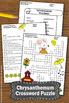 Chrysanthemum Crossword Puzzle Back to School Activities