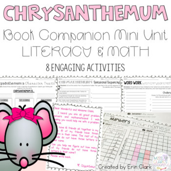 Chrysanthemum Curricular Companions {Language Arts & Math Activities}