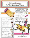 "Chrysanthemum Activities: Chrysanthemum ""Fix The Sentence"" Cards"