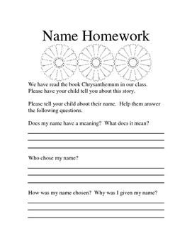 Chrysanthemum Homework