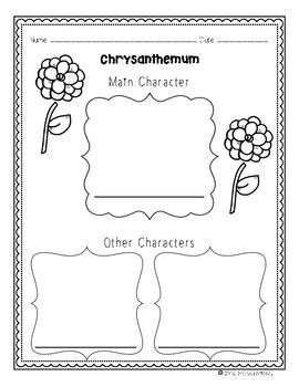 Chrysanthemum Interactive Repeated Close Read Aloud Lesson Plan and Tasks