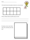 Chrysanthemum Kevin Henkes Kindergarten Writing/Math Activity