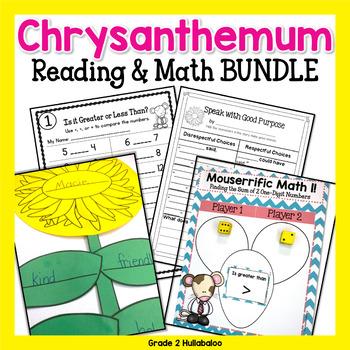 Chrysanthemum -- Reading Response, Comparing Numbers, Writing and 2 Craftivities