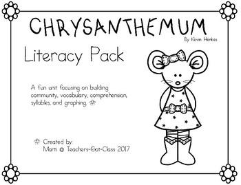 Chrysanthemum Literacy Pack
