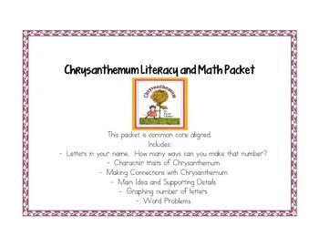 Chrysanthemum Literacy and Math Packet