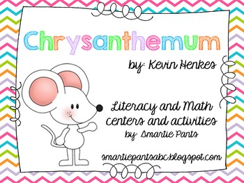 Chrysanthemum Math and Literacy for Back to School