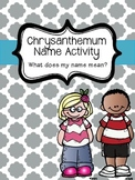 Chrysanthemum Name Activity Freebie!