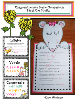 graphic regarding Chrysanthemum Free Printable Activities named Chrysanthemum Worksheets Education Products Instructors Pay back