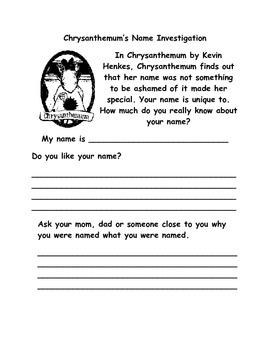 Chrysanthemum Name Investigation