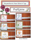 Chrysanthemum Name Cards and Slider Craftivity