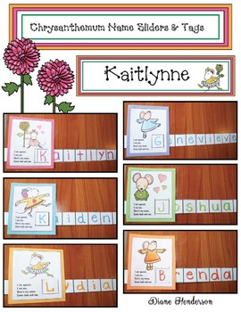 Chrysanthemum Name Cards and Slider Craftivity