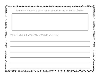 Chrysanthemum Packet, Easy to use, Print and distribute!