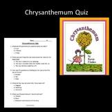 Chrysanthemum Quiz
