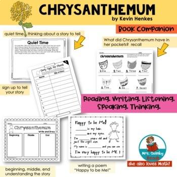 Chrysanthemum - Reader Response Pages - [Writing Prompts]- Children's Literature