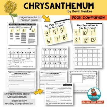 Chrysanthemum | Reader Response Pages | [Writing Prompts] |Children's Literature