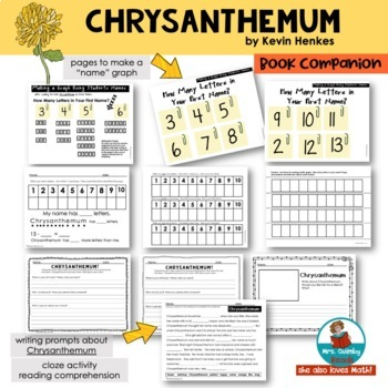 Chrysanthemum   Reader Response Pages   [Writing Prompts]  Book Companion