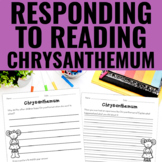 Reading Response Activities for Chrysanthemum