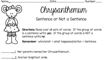 Chrysanthemum Sentence or Not a Sentence
