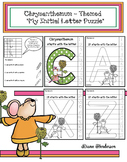 """Chrysanthemum Activities: """"My Initial"""" Letter Puzzle Craft"""