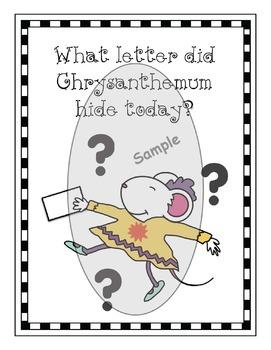 Chrysanthemum-Themed Name Craft + Worksheets & Games
