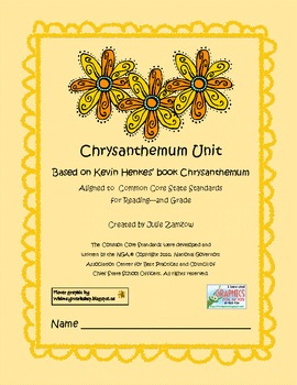 Chrysanthemum Unit Aligned to CCSS