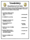 Chrysanthemum Vocabulary Worksheets