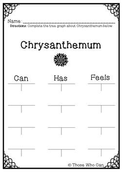 Chrysanthemum Writing FREEBIE