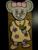 Chrysanthemum mouse paper bag puppet