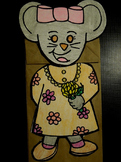 Chrysanthemum mouse paper bag puppet