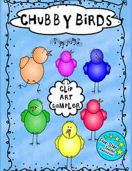 Chubby Bird Clip Art Sample Pack