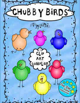 Chubby Bird Clip Art Sample Pack