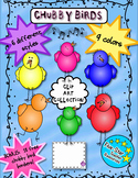 Chubby Bird Clip Art--Full Set