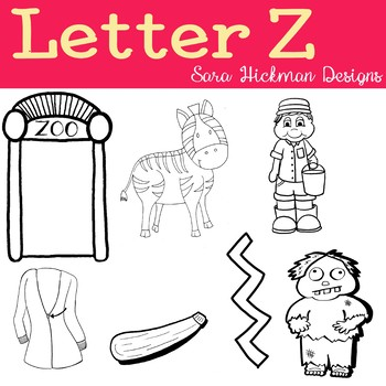 Chubby Cheek Clipart - Letter Z (black and white only)