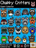 Chubby Critters Clip Art Collection-52 pc. Blackline and Color