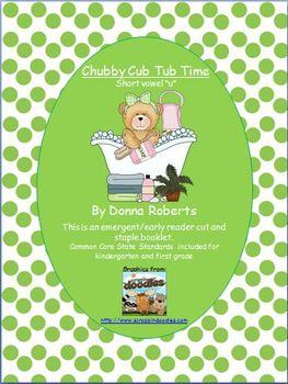 Chubby Cub Tub Time short vowel u emergent early reader