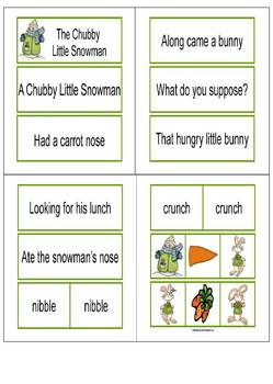 Chubby Lil Snowman Pocket Chart