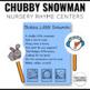 Chubby Little Snowman Nursery Rhyme Literacy Tasks