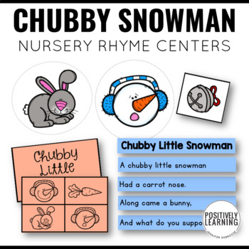 Chubby Little Snowman Poem and Centers