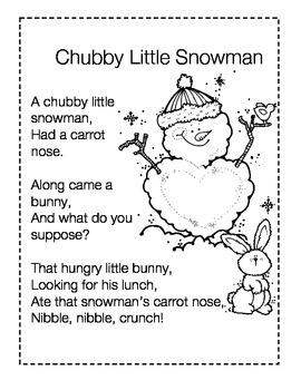Chubby Little Snowman Poem