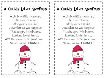 image relating to Chubby Little Snowman Poem Printable named Over weight Minor Snowman Poetry Pack