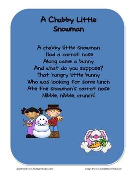 Chubby Little Snowman - Song Chart