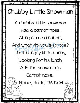 graphic regarding Chubby Little Snowman Poem Printable named Overweight Tiny Snowman - Wintertime Poem for Children