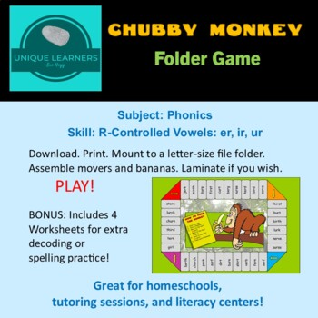 Chubby Monkey Folder Game for R-controlled er ir ur