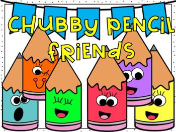 Chubby Pencil Friends Clipart