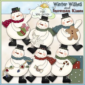 Chubby Snowman Clip Art - Christmas Snowman Clip Art - CU Colored Clip Art