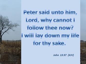 Church Set - John 13:37