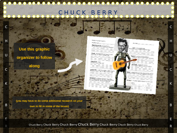 Chuck Berry: 25 slides with text, hyperlinks & primary sources (with handouts)