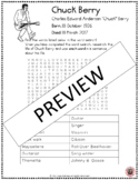 Music Word Search: Chuck Berry Word Search and Research Activity