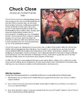 Chuck Close Biography and Questions